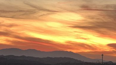Sunset after the high school shooting at Saugus in Santa Clarita